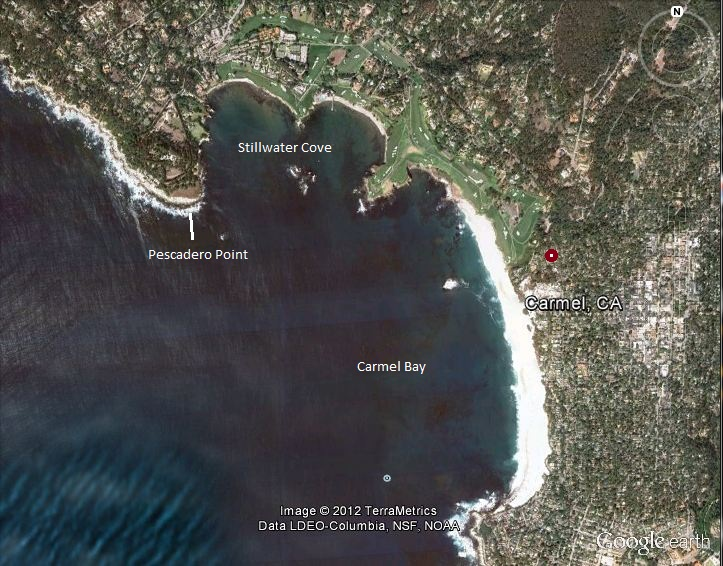 Map of Carmel Bay